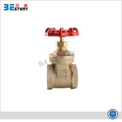 Dn40 Válvula de compuerta de fundición de bronce para tuberías de agua