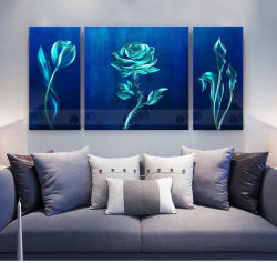 벽화 블루 로즈 현대 추상화 꽃들이 그림을 그리다 욕실 침실 거실 홈 오피스 SPA 벽 장식