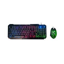 Textura Fosca coloridos de teclado do painel de crack U+U com interface de teclado e mouse para jogos com fio