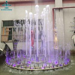 الديكور الخارجي الفاتح المفعم بالألوان النافورة الموسيقية الراقصة المائية الصغيرة