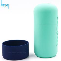 Vasetto di protezione personalizzato/manicotto per bottiglia d'acqua/vetro siliconico in gomma Boston