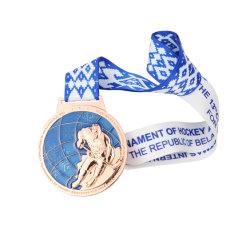 Poco costosi all'ingrosso progettano la medaglia per il cliente del ricordo del premio dell'oro di sport del mestiere del metallo di promozione