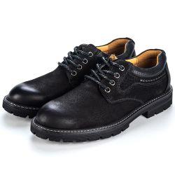 Продажи обычных мужчин обувь Lace Up молодых мужчин из натуральной кожи вне моды обувь высокого Quanlity Водонепроницаемость опорные доказательства раунда Toe широкий мужчин обувь
