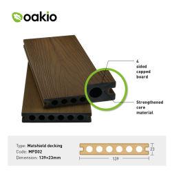 スリップの抵抗力がある防水屋外のDecking WPCの木製のプラスチック合成のボード