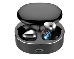 سماعات رأس لاسلكية HFi 6D ستيريو Bluetooth 5.0 TWS متوافقة مع معيار Ipx6 مقاومة للماء سماعة الرأس سماعة الرأس الرياضية سماعة أذن Bluetooth® خالية من اليدين