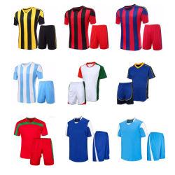 Het nieuwe Voetbal Jersey van Jersey van de Voetbal van het Overhemd van het Voetbal van de Sublimatie van de Douane van het Ontwerp In het groot