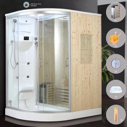 室内コンピュータコントロール、木製のウェットスチームシャワー、サウナルームが備わっている