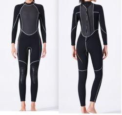 3mm fêmea de Manga Longa do fato de mergulho completo para o desgaste do Desporto