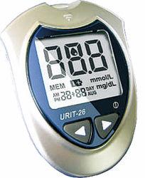 26 Urit Glucometer глюкозы в крови и дозатора реактива определения наличия Glucometer полосок для тестирования