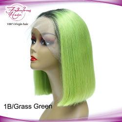Diverse Hete Verkopende Pruiken van het Haar van de Pruiken van het Kant van de Pruik 1b/Green van het Loodje van het Haar van Kleuren Mooie Braziliaanse