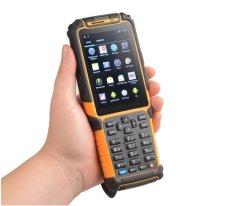 جهاز مسح الرمز الشريطي اللاسلكي طرف جهاز PDA 4G GPS Bluetooth NFC شاشة اللمس الخاصة بالقارئ
