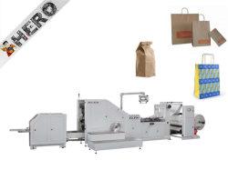 Manejar los alimentos comestibles Kfc bolsa de papel de fondo plano que hace la máquina completamente automática de compras la bolsa de papel Kraft marrón Precio máquina de hacer