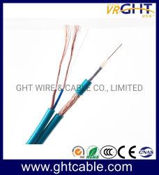 75ohm Catv- Communicatie RG6 Coaxiale Kabel met 2 Draden van de Macht