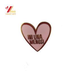 Professional logotipo personalizado de ouro de estamparia de metal duro Metal Pino 3D Soft Ferro emblema distintivo do esmalte Pin de lapela para Dom (YB-LP-003)
