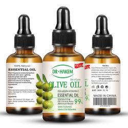 Private Label 100% puro de oliva personalizado de alta calidad de aceite esencial de cuidado de piel