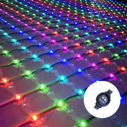 SMD3535 12VDC 180grados de 22mm de malla Net decoración luz LED RGB