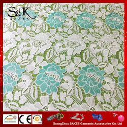 Alta Qualidade Design Personalizado Leite tecido de seda rendas para o vestuário com cores diferentes