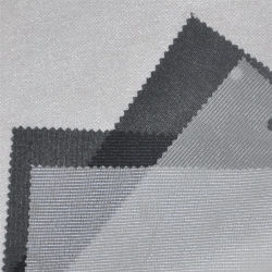 100% полиэстер Tricto трикотажные тканого Interlinings двойной DOT трикотажные растянуть плавкая вставка из ткани