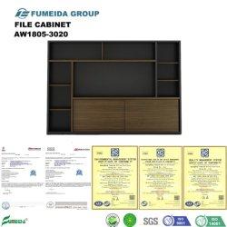 Elegante mobiliário de escritório de madeira armário de Enchimento