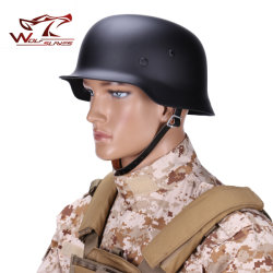 Alemán de militar Guerra Mundial M35 con doble capa de casco de seguridad
