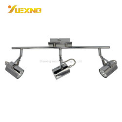 Китай на заводе оптовый потолок линейных потолочный светильник для детей установлен хром металлический GU10 лампы фонаря направленного света