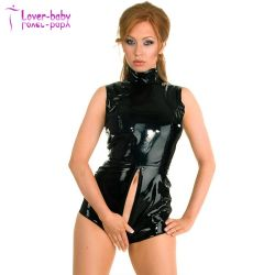 Los cuerpos de mujeres en ropa interior sexy lencería L60817 de cuero