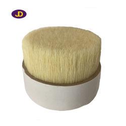 Brosse ronde en poils naturels blancs doux