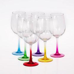 卸し売り水晶噴霧カラー茎のワイングラス