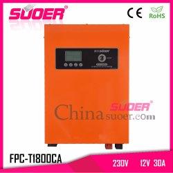 Suoer 800W 12V 230V hybride de convertisseur de puissance de l'onduleur onduleur Onde sinusoïdale pure avec chargeur (CPF-T1800VA)