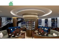 Dubai Hotel de 7 Estrellas Sofá silla mesa Bar conjuntos de muebles de madera