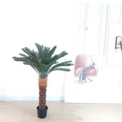 Saída de fábrica fábrica de plástico de simulação decorativas Bonsai Cycas Revoluta Artificial