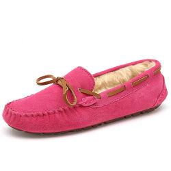 كلاسيكيّة نساء شتاء دافئ [لثر شو] [كسول شو] حذاء ([فتس1020-23])
