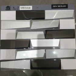 L'argent brillant Miroir en mosaïque de verre de couleur pour Wall M855416