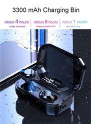 G02 Tws 이어폰 3300mAh 건전지를 가진 소형 Earbuds 지능적인 발광 다이오드 표시