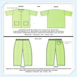 Enfermera poli algodón trajes de matorrales uniforme