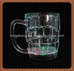 La Cina Manufacturer Barware LED Flashing Cups, 500ml 16oz LED Beer Mugs Cups con Logo Printing, Color Changing Glowing Beer Cups