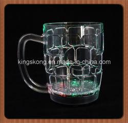 LEIDENE van Barware van de Fabrikant van China Opvlammende Koppen, 16oz de Koppen van de LEIDENE 500ml Mokken van het Bier met de Druk van het Embleem, Koppen van het Bier van de Kleur de Veranderende Gloeiende