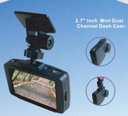 2,7 pouces Full HD à double canal Wi-Fi Véhicule automobile Boîte noire avec l'avant et arrière de l'IMX291 Capteur GPS externe, Ios et Android app, DVR voiture sans fil Wi-Fi