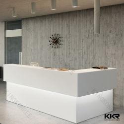 Salon commercial de pierre artificielle blanche comptoir de réception