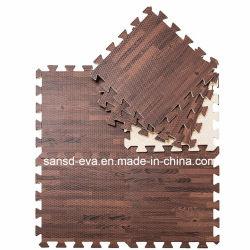환경 EVA 폼 우드 곡물 바닥 매트 오도르 EVA 퍼즐 매트