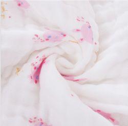 O Muslin 100% do algodão /Bamboo imprimiu o tecido