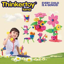 Frühes Learning Plastic Öffnen-End Block Flower Toy für Girls