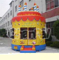 Birthday gonflable Cake Round Bouncer pour Amusement Park (CHB173)