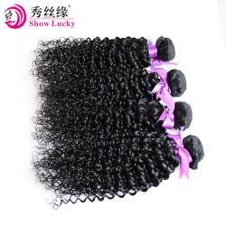 Het hete Verkopende Kroezige Krullende Echte Haar Kanekalon bundelt 12-28 Product Op hoge temperatuur van het Haar van de Haarstukjes van de Vezel van Duim 100g/Piece het Synthetische