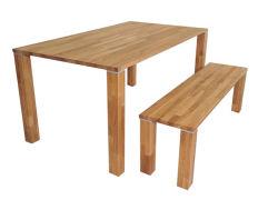 Твердого дерева обеденный стол и установить на стенде отель мебель Садовая мебель