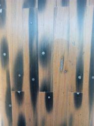 Mosaico de madera decoración mural interior desigual el panel de pared Material