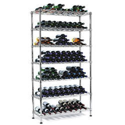 Ferro forjado vertical ajustável suporte para rack de garrafas de vinho, a NSF Aprovação