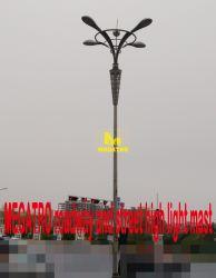 De Rijweg van Megatro en de Hoge Lichte Mast van de Straat