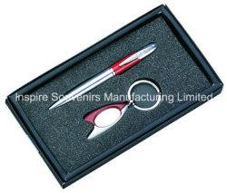 Tischplattengeschäfts-Geschenk (Kugel-Feder + Schlüsselkette) (GP611)
