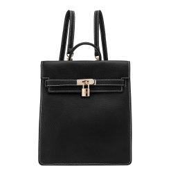 Mala de viagem em pele genuína com mochila de designer de moda para as mulheres